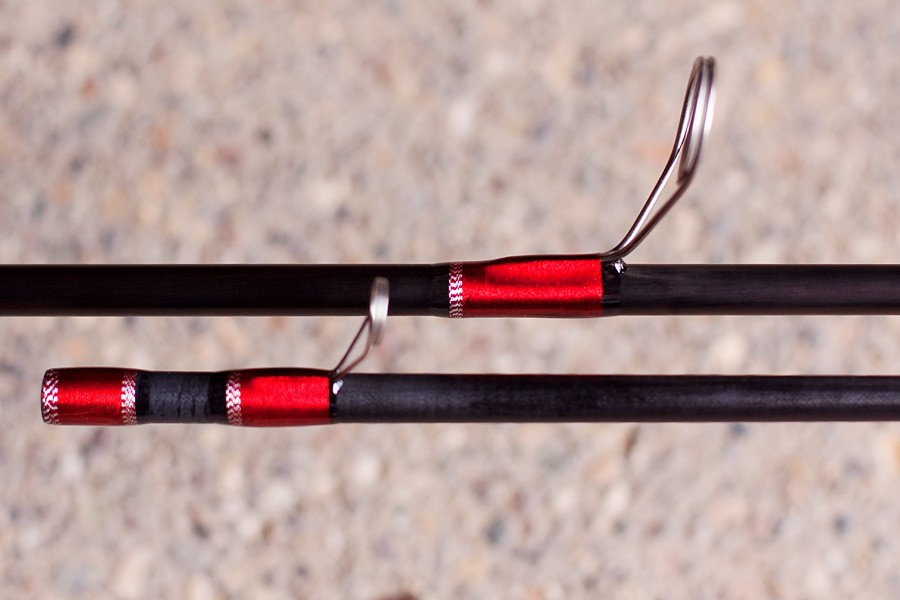 Reel tech custom his and hers steelhead rods www for Red fishing rod