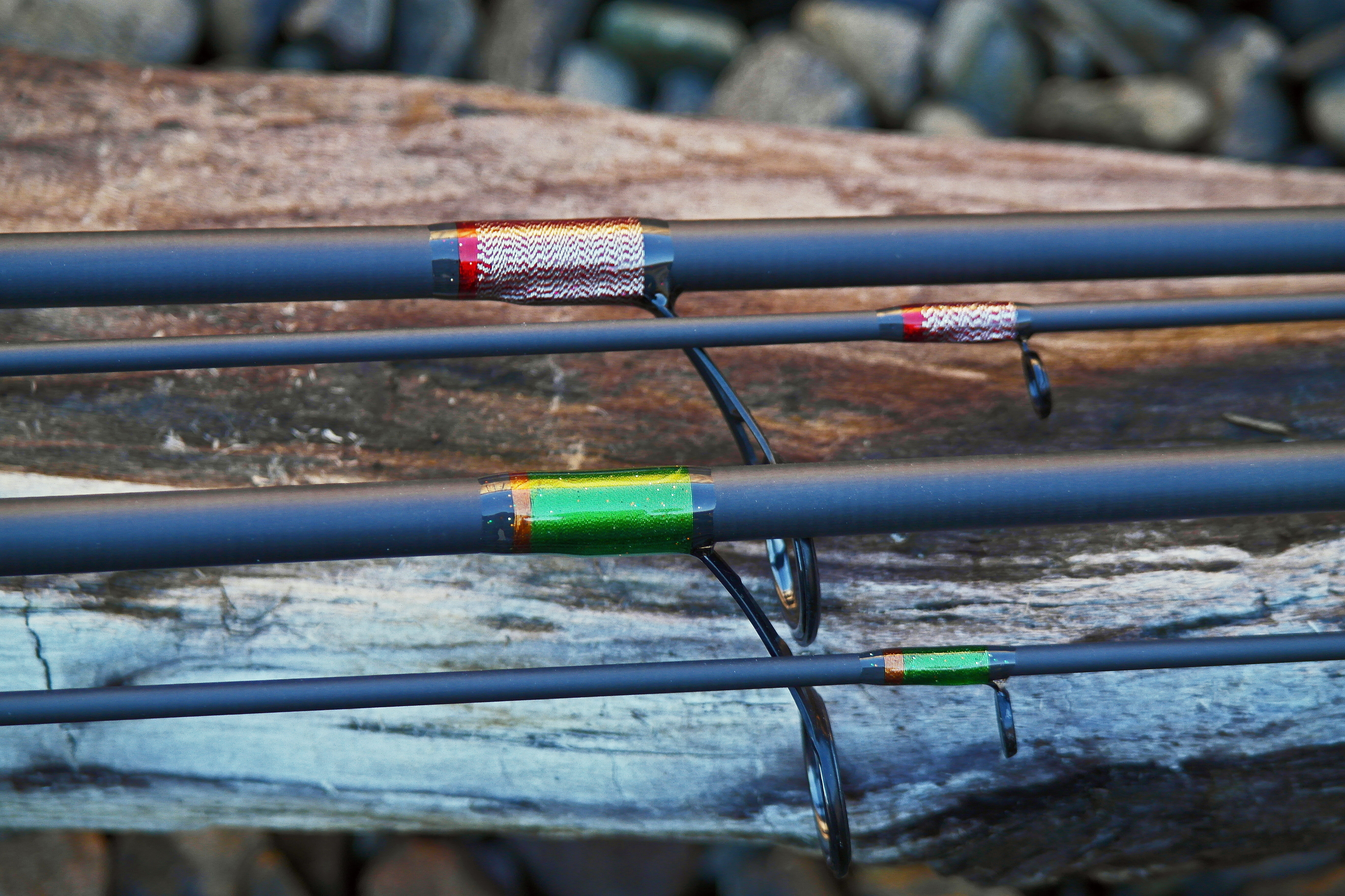Reel tech custom pair of 10 39 float rods for Personalized fishing rods