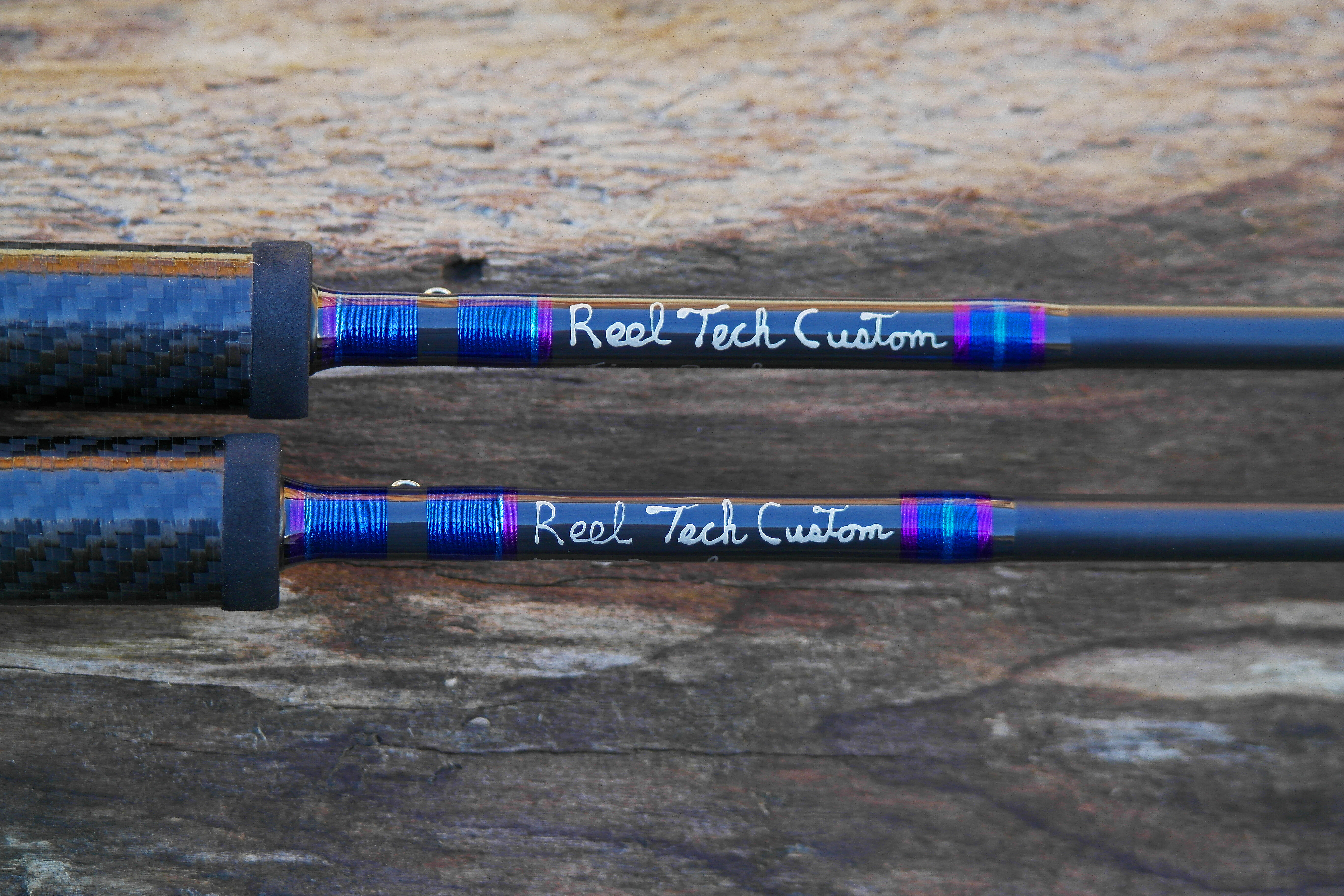 reel tech custom rods pair of 10 39 6 side drifters www